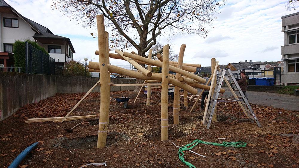 Bau Klettergrüst Weiltalschule 03